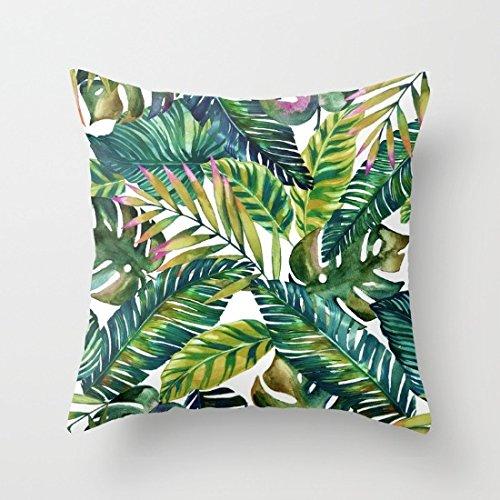 Moderno Banana Leaf manta fundas de almohada de 18x 18Accent almohadas sofá...