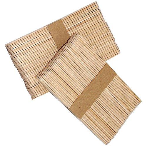 Hosaire Holzspatel/Holzstäbchen / Holzmundspatel zum Auftragen von Wachs und Zuckerpaste Wachsspatel/Mundspate für die Haarentfernung (Packung mit 50 Stück)