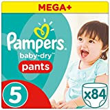Pampers - Baby Dry Pants - Couches Taille 5 (12-18kg/Junior) - Mega+ Pack (x84 Culottes)