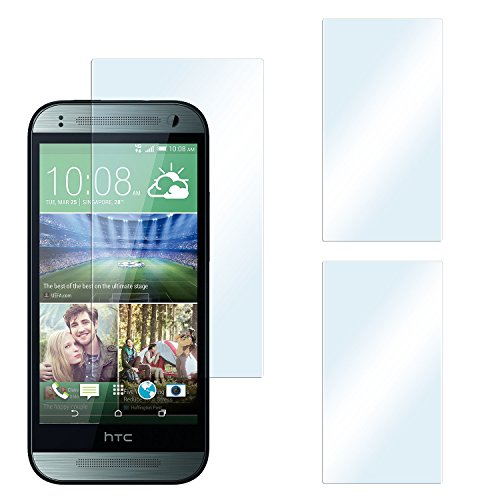 2x HTC One Mini 2 Schutzfolie Klar Display Schutz [Crystal-Clear] Screen protector Bildschirm Handy-Folie Dünn Displayschutz-Folie für HTC One Mini 2 Displayfolie (Original One Screen Htc Mini)