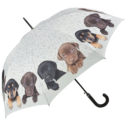 VON LILIENFELD Paraguas Automática Mujer Motivo Perro Cuarteto de Cachorros