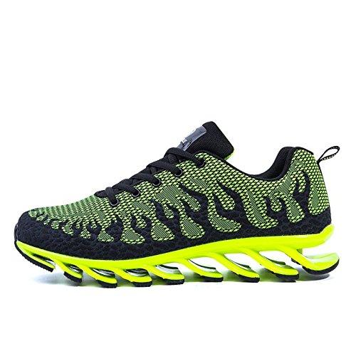 Chaussures de running respirante flamme lame Graffiti sport chaussures printemps chaussures Green