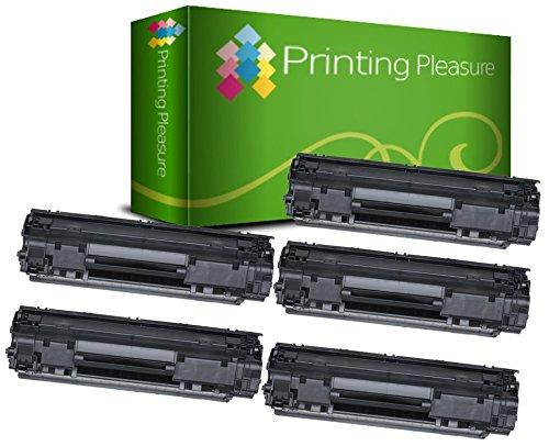 Printing Pleasure 5 Compatibles CF279A 79A Cartuchos de tóner para HP Laserjet Pro M12a, M12w, MFP M26A, MFP M26nw - Negro, Alta Capacidad