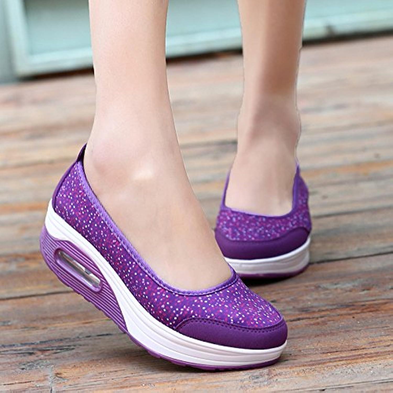 NGRDX&G Calzado Casual Mujer Malla Transpirable De Impresión En Caliente Zapatos Con Plataforma De Mujeres,2962,9...