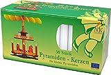 100 (2x50) Nordlicht-Kontor Pyramidenkerzen, 70 x 14 mm, Kerzen für Weihnachtspyramiden (Weiß)