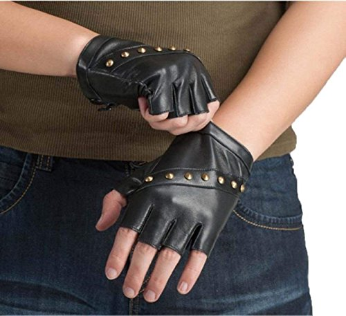 2212344083d3 SED Hombres  S Mujer con Pantalla táctil Texting Leather Gloves Medio Dedo  Simple Sytle Winter