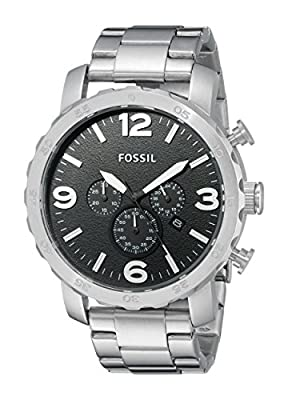 Fossil Nate - Reloj de pulsera cronógrafo para hombre con correa de acero inoxidable - JR1353