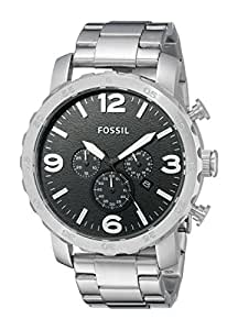 Fossil End-of-season Nate Chronograph Black Dial Men's Watch - JR1353