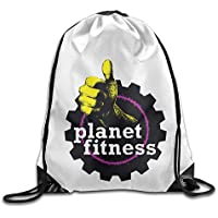 Planet Fitness gimnasio bolsa haz puerto senderismo cordón mochila color blanco