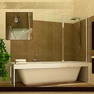 pare baignoire paroi douche 2 volets pivotants. Black Bedroom Furniture Sets. Home Design Ideas