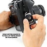 Kameragriff zur Stabilisierung und Sicherung Ihrer Spiegelreflexkamera von USA Gear: Gepolsterte Handschlaufe, Schwarz, aus Neopren für SLR/DSLR von Canon, Nikon und anderen Herstellern für Kameragriff zur Stabilisierung und Sicherung Ihrer Spiegelreflexkamera von USA Gear: Gepolsterte Handschlaufe, Schwarz, aus Neopren für SLR/DSLR von Canon, Nikon und anderen Herstellern