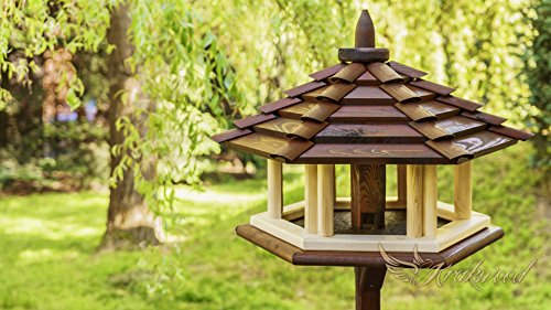 Exclusive 3x Large Wooden Bird Table & Bird Feeder& Feeder From Hopper For Grain