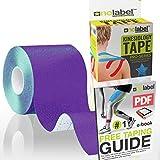 Nastro Kinesiologico Uncut | Kinesio Tape | Kinesiology Tape | Sportivi Uncut Supporto per Strappi Muscolari | Rotolo medico da 5m di No Label (Viola)