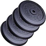 ScSPORTS 100 kg Hantelscheiben-Set Gusseisen 4 x 25 kg Gewichte 30/31 mm Bohrung