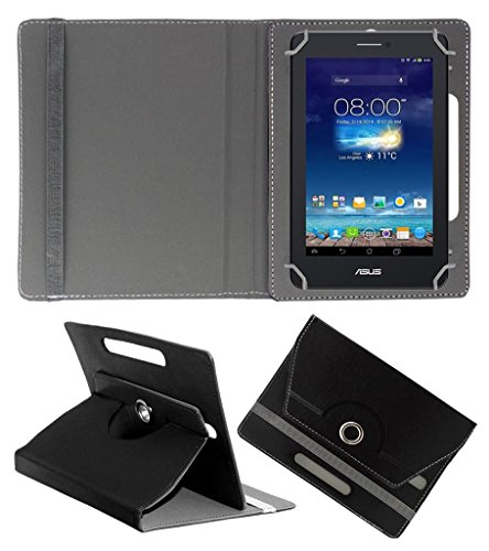 Acm Rotating 360° Leather Flip Case For Asus Fonepad 7 Me175cg-1a007a Tablet Stand Cover Holder Black  available at amazon for Rs.149