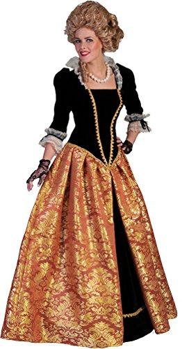 okoko Damen Kostüm Barock Kostüm Renaissance Damenkostüm Viktorianisches Kleid Karneval Größe 40/42 (Renaissance-kostüm-muster)