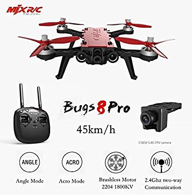 MJX B 8 Pro Bugs 8 Pro RC Drone Quad-copter Brush less With 2204 1800 KV Motor 3D Flips Remote Control Drone from MJX