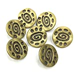 #9: Designer Imported Metal Button - pack of 6