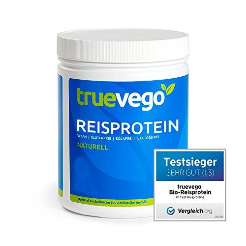 truevego Reisprotein Naturell - 625g - Aktionspreis MHD 11.2018 - mit Qualitätssiegel - all essentiellen Aminosäuren - vegan - in Deutschland geprüfte und abgefüllte Spitzenqualität - extrafein