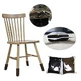 WINOMO 24pcs Polyester Stuhl Bein Kappen Füße Pads Möbel Tisch Stuhl Socken Abdeckungen Stuhl Socken Protektoren Protektor Ärmel Bodenschoner (schwarz)