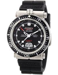 Formex 4 Speed DS2000 - Reloj analógico de caballero de cuarzo con correa de silicona negra