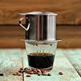 KITCHY Stainless Steel Vietnamese Coffee Drip Pot Coffee Filter Infuser Office Home Traveling Coffee Maker
