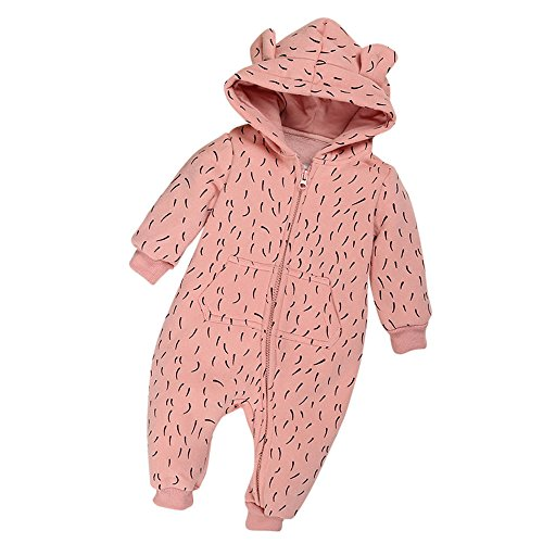 HET Baby Kleidung Jungen Mädchen Strampler Neugeborenen Overall Baby-Mädchen-Winter-Reißverschluss-Hoodie-Spielanzug-warmer Mantel Outwear kleidet CO66 (90, - Baby Saiyajin Kostüm