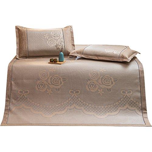 Liuyu · Sièges en rotin Trois pièces 1,8 m tapis de soie de glace pliable Double-face tapis mou Été tapis de lit d'été sans glace froid Respirant pour la peau non stimulent l'assurance de la qualité