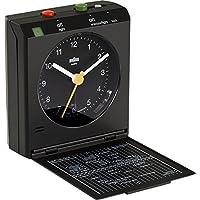 Braun BNC005 Orologio con Sveglia da Viaggio a Gestione Mediante Movimento, Nero