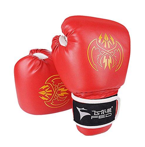 Erwachsene Boxing kämpfen Handschuhe Haushaltstrainingshandschuhe ROT,10 Ounce