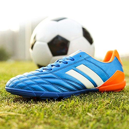 BELECOO Scarpe da Calcio Calzature da calcio per esterni per bambini / Junior blu-1