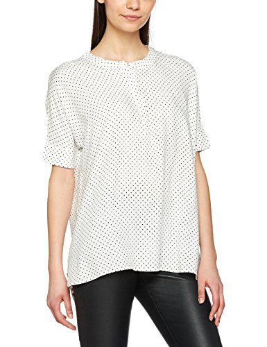 Only Onlzafran S/S Loose Top Dot Wvn, Blouse Femme Multicolore (Cloud Dancer Aop:w. Tiny Dots In Night Sky)