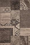 Kayoom Teppich_USA - Los Angeles Silber_80cm x 150cm_100% Polypropylen-BCF_Maschinengewebt