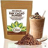 POUDRE de CACAO CRU BIO de NUTRI SUPERFOODS. Chocolat noir de première qualité. Nutritif et riche en magnésium idéal pour la cuisine et les barres énergétiques. 400g.