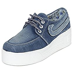 1 WALK MAPPLE COLLECTION ORIGINAL COMFORTABLE STYLISH WOMEN SHOES /SNEAKERS/COLLEGE WEAR/2018 LATEST COLLECTION/PARTY WEAR/CASUAL WEAR/WEEDING WEAR-Light Blue-K210B-37