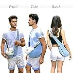 Buyger Reversible Pet Sling Carrier Hand free Puppy Cat Carrier Single Shoulder Bag (Grey) 11