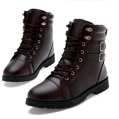 AIURBAG Da uomo-Sneakers-CasualPiatto-PU (Poliuretano)-Nero Marrone brown