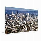 Premium Textil-Leinwand 75 cm x 50 cm quer SAN FRANCISCO Aussicht von Twin Peaks | Wandbild, Bild auf Keilrahmen, Fertigbild auf echter Leinwand. Über den Dächern der Stadt (CALVENDO Orte)