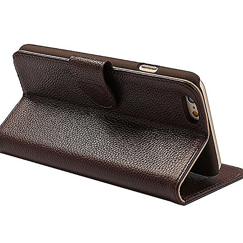 Levanpro Folio Portefeuille en Cuir Véritable Etui de Protection Languette Magnétique avec Wallet Ultra Slim Support et Rangements de Cartes pour iphone 6 plus / iphone 6s plus C