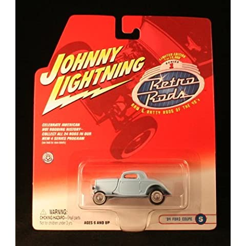 '34 FORD COUPE #5 * BLUE * 2002 Johnny Lightning RETRO RODS Series 1 Limited Edition Die Cast Vehicle * 1 of only 15,000 * by Johnny Lightning
