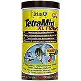 TetraMin XL Flakes (Hauptfutter für alle Zierfische mit größerem Maul in Flockenform, plus Präbiotika für verbesserte Körperfunktionen und Futterverwertung), 1 Liter Dose