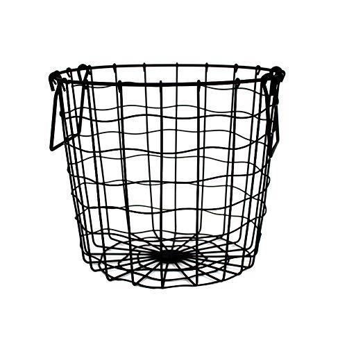 Ingrirt5Dulles Eisengitter Haushalt Ablagekorb Box Kleidung Unterwäsche Organizer Container - Ideal für Wäsche, Dekoration, Zubehör und andere Aufbewahrungsboxen - Flexible und langlebige Schwarz -