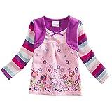 VIKITA T-Shirts Manches Longues Floral Coton Fille L62123 4T