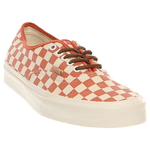 Vans Authentic CA Checker Mango blanc Rouge