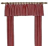 Wirth Vorhang, Polyacryl, Rot, 125 x 55 cm, 2-Einheiten