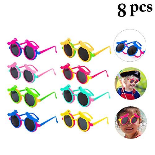 ille, 8 Paar Neuheit Kinder Sonnenbrille Vogel Flip Cover für Geburtstagsfeierartikel, Strand, Pool Party Favors Fancy Dress Party Supply Perfekte hawaiianische Brillen für Kinder ()