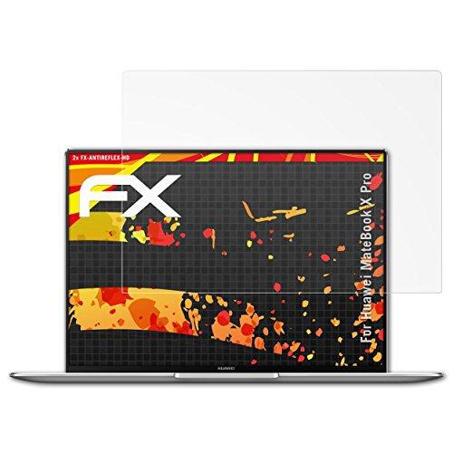 atFolix Schutzfolie kompatibel mit Huawei MateBook X Pro Displayschutzfolie, HD-Entspiegelung FX Folie (2X)