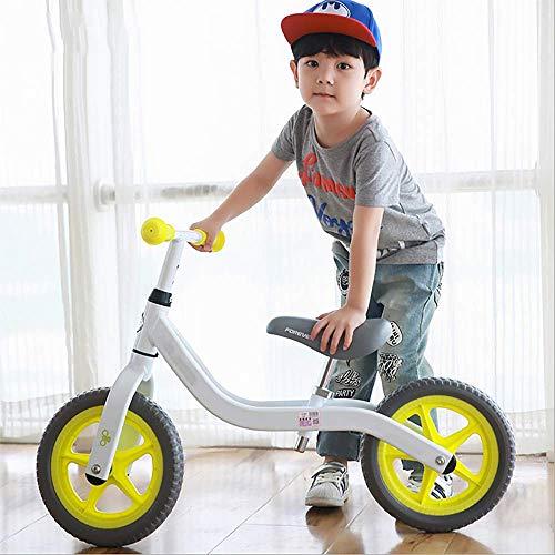 YUN GAME@ Training Bike, Laufrad Verstellbarer Sitz, Balance Bike Kid im Alter von 18 Monaten-5Year, Bike Training/Bike Balance,Green