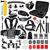 Followsun 52-in-1 Accessori per GoPro Hero (2019)/Fusion/Max/Hero 8 7 6 5 4 Session 3+ 3 2 1, Action Camera Accessori Kit per DJI OSMO Pocket AKASO Campark APEMAN Crosstour Sjcam Yi Victure