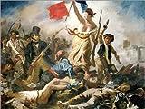 Poster 80 x 60 cm: Die Freiheit führt Das Volk von Eugene Delacroix - Hochwertiger Kunstdruck, Neues Kunstposter